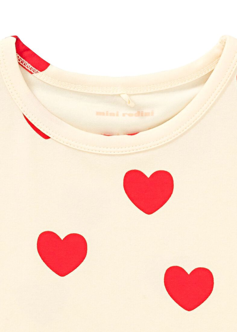Heart SS Tee, Beige, large image number 2