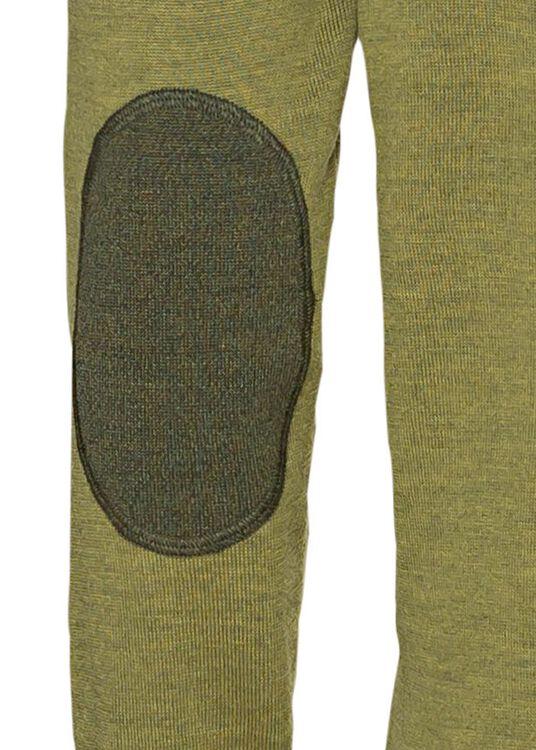 V-neck w. patch, Merino wool, Grün, large image number 3