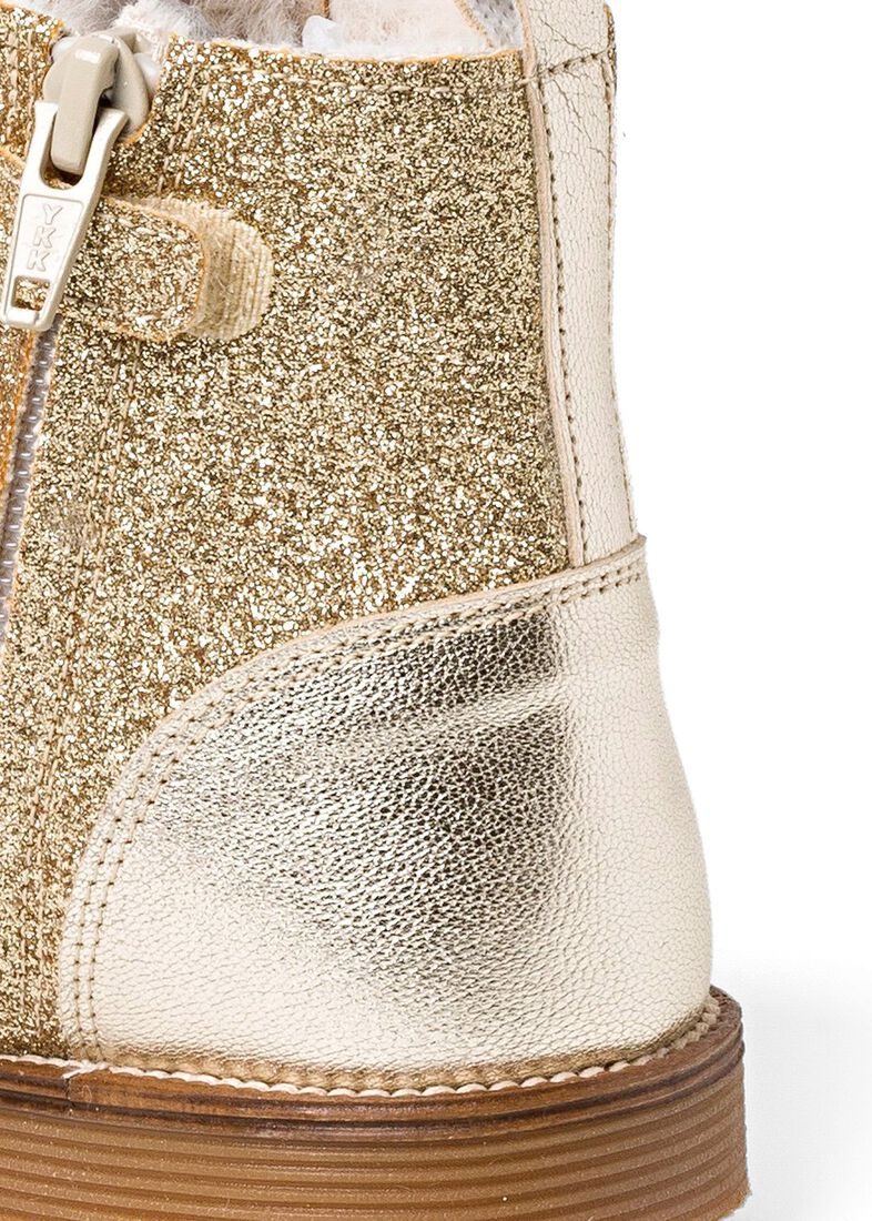 Wool Lines Glitter Boot, Gold, large image number 3
