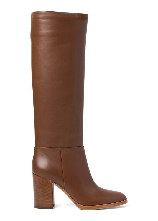 6_High Boot Nappa Stacked Heel image number 0