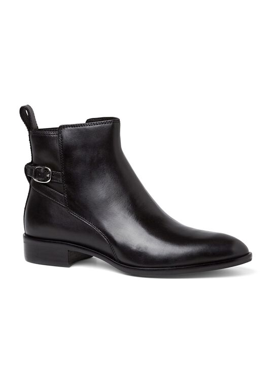 8_Victor Flat Ankle Boot Buckle Calf, , large image number 1