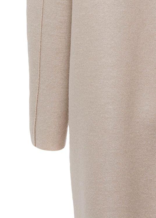 Women egg shaped coat pressed wool image number 3