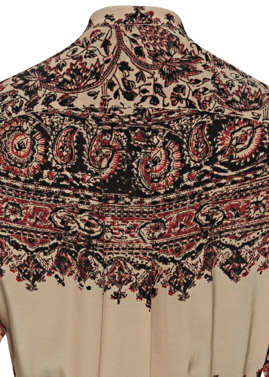 EMBELLISHED ASYMMETRIC SHIRT DRESS image number 3