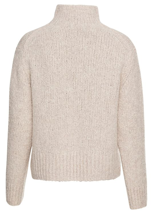 TEXTURED FUNNEL NK PULLOVER image number 1