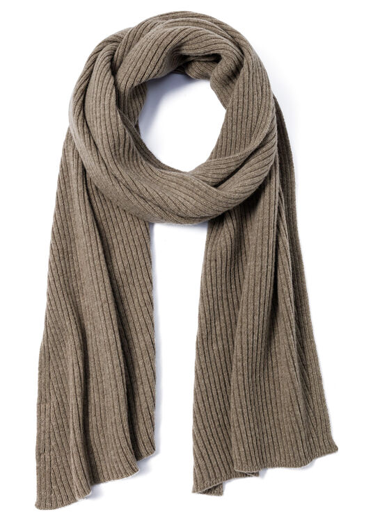 RIB KNIT ANGLED SCARF image number 0