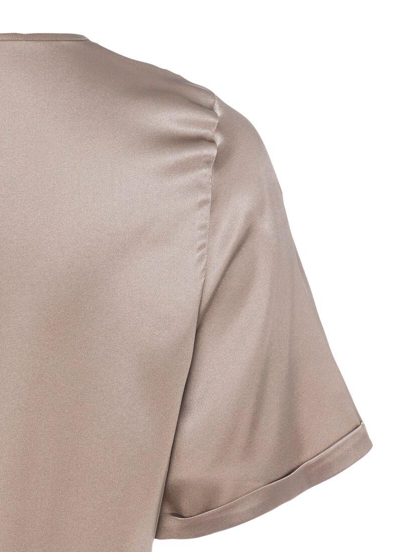 (S)NOS Satinsilk Shirt, Beige, large image number 3