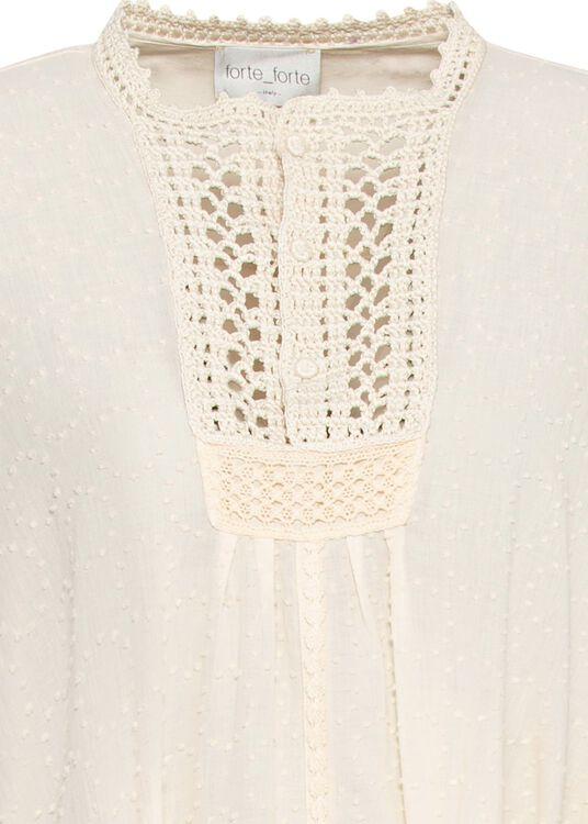 plumetis cotton kaftan dress image number 2