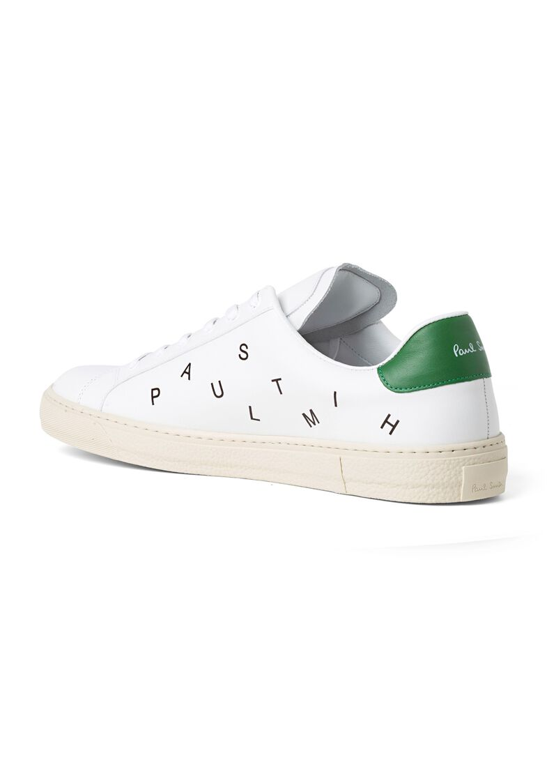 MENS SHOE HANSEN WHITE LETTER GREEN TAB, Weiß, large image number 2