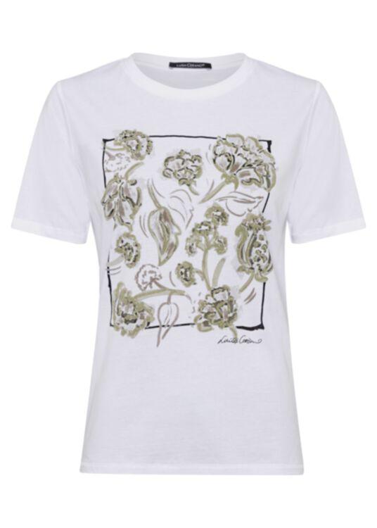 T-Shirt mit Blumen-Print image number 0