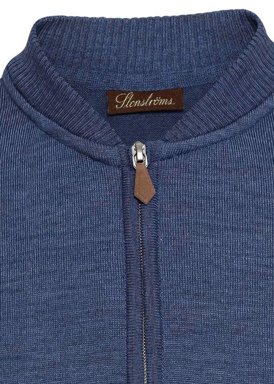 Zip cardigan,baseball,Merino wool image number 2