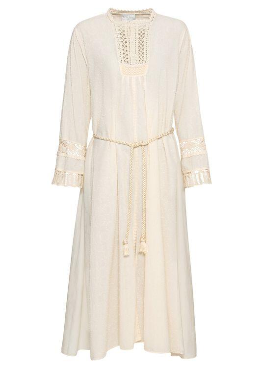 plumetis cotton kaftan dress image number 0