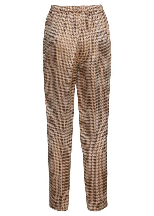 pied de poule fluidjacquard high waistpants image number 1