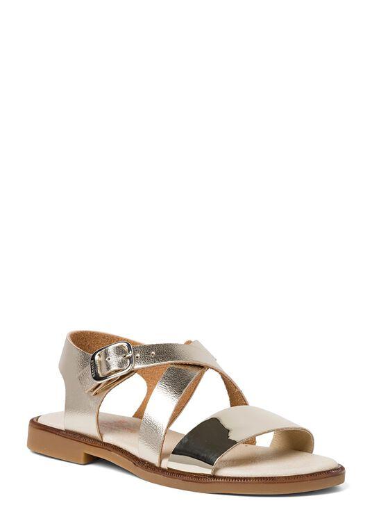 Cross Sandal Metallic, Gold, large image number 1