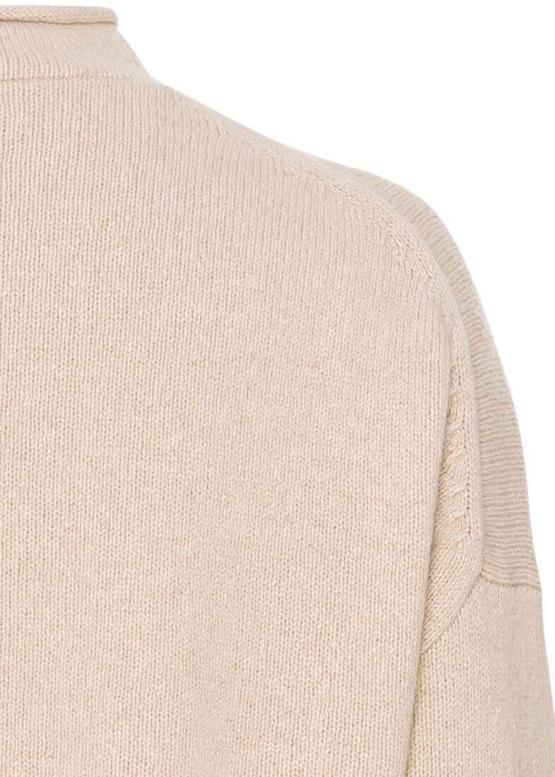 CAMERON BOXY CRP ROLLNECK SWTR, Beige, large image number 3