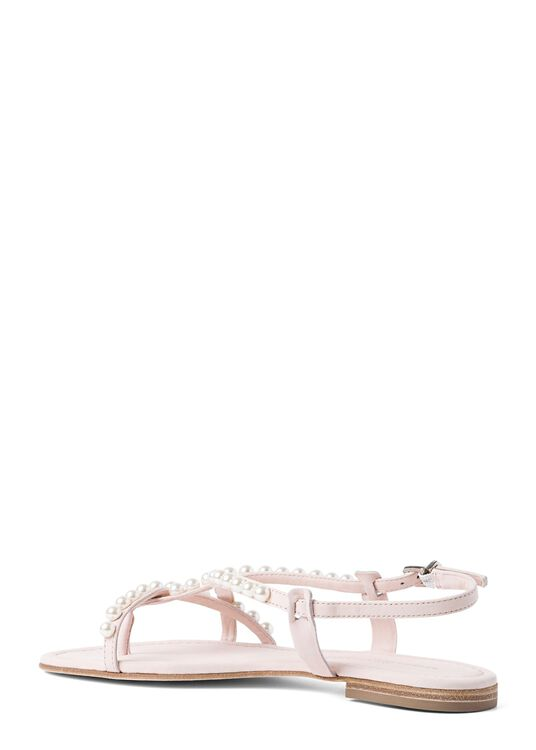 23_Elle Pearls Flat Sandal image number 2