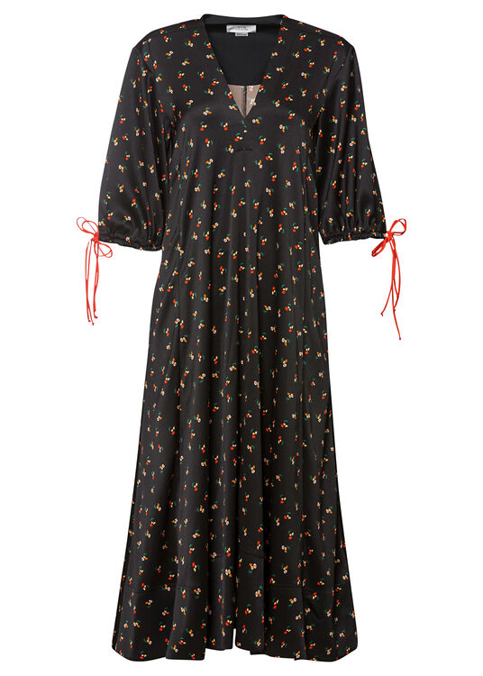 PUFF SLEEVE MAXI DRESS image number 0