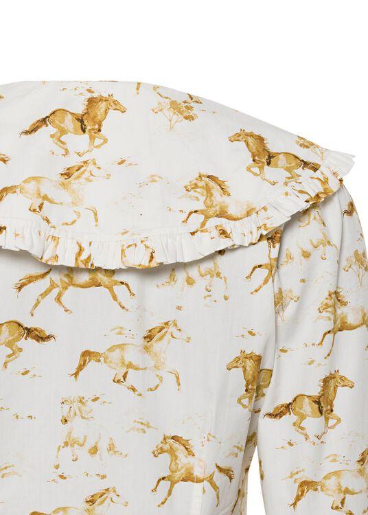 Printed Cotton Poplin Shirt/Blouse image number 3