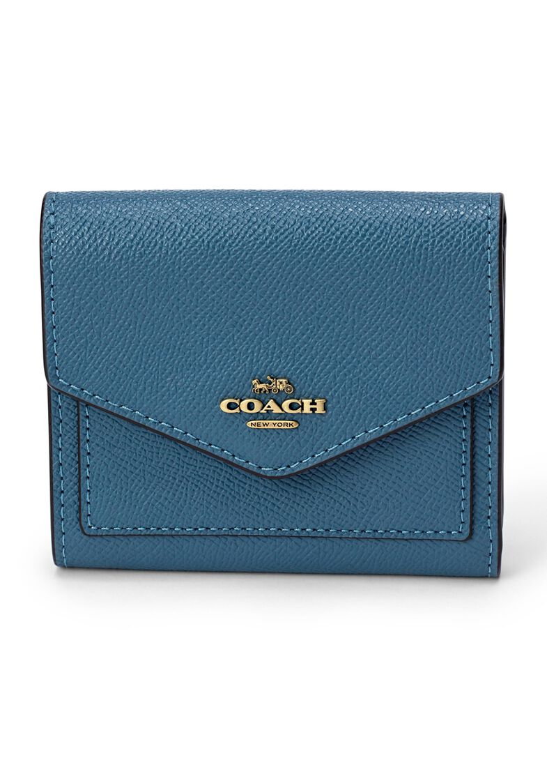 crossgrain leather small wallet, Blau, large image number 0