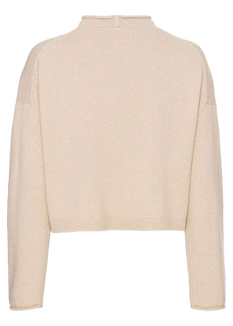 CAMERON BOXY CRP ROLLNECK SWTR, Beige, large image number 1