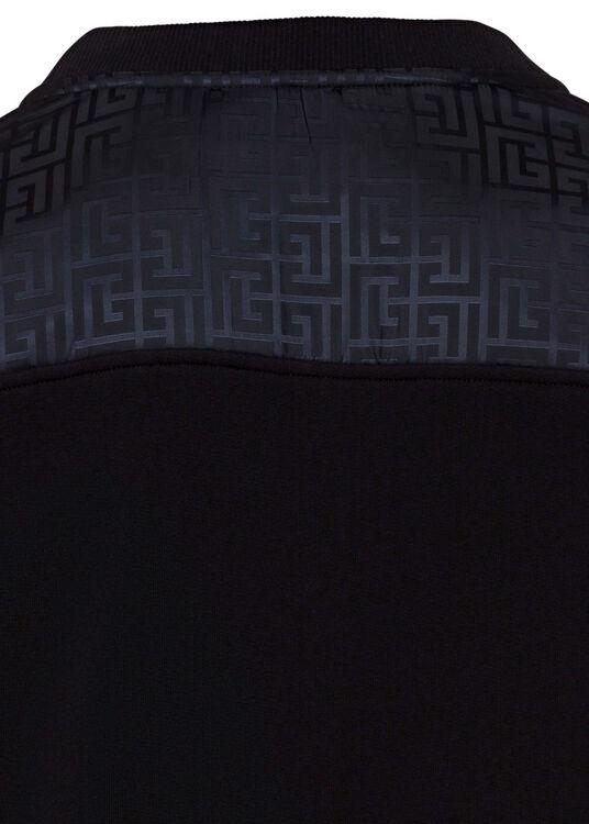 MIXED FLEECE & MONOGRAM NYLON SWEATSHIRT image number 3