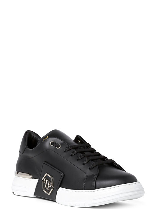 Leather Lo-Top Sneakers metal Phantom Platinum image number 1