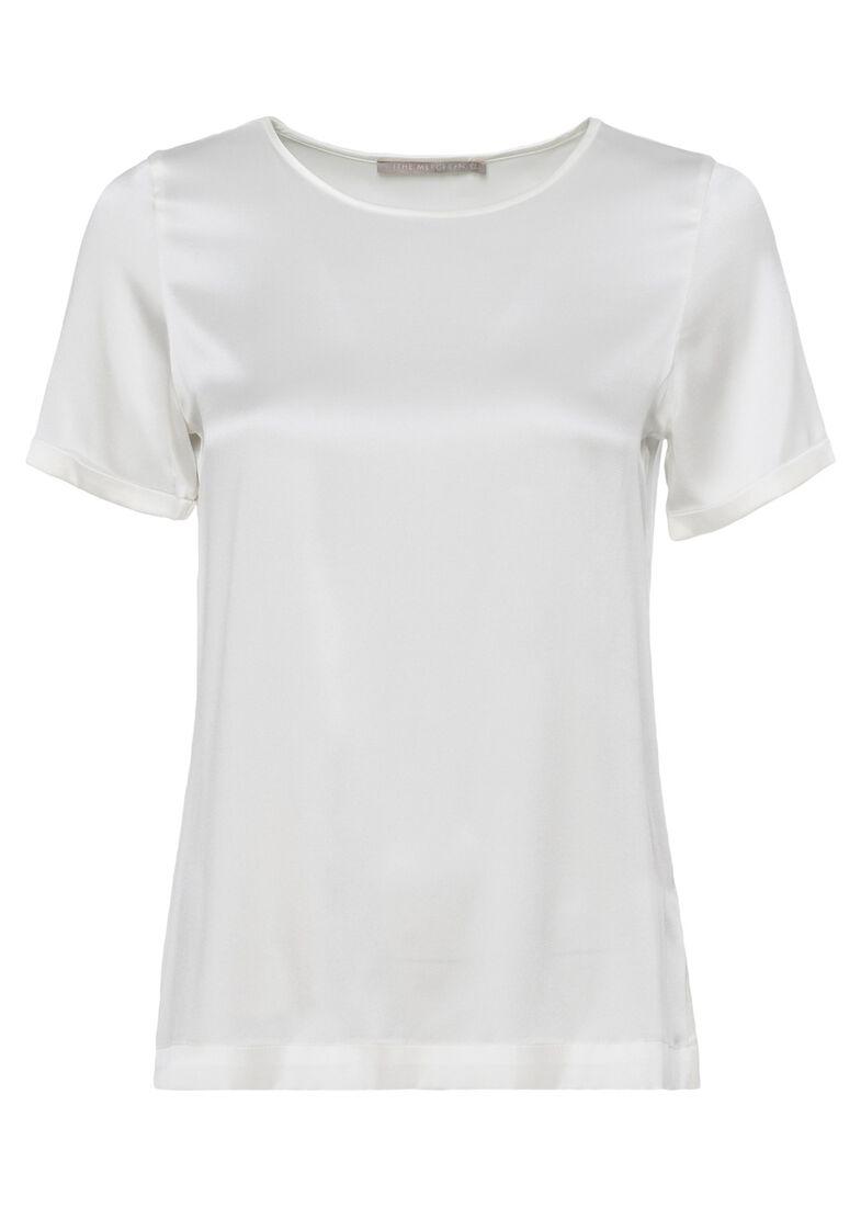 (S)NOS Satinsilk Shirt, Weiß, large image number 0