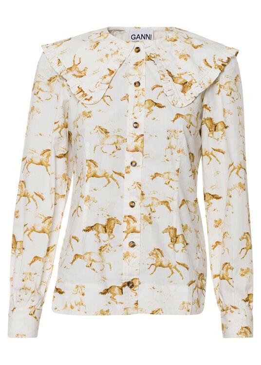 Printed Cotton Poplin Shirt/Blouse image number 0