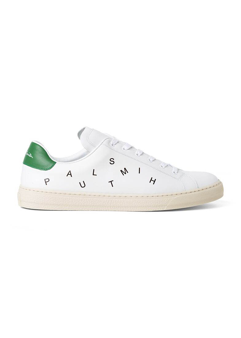 MENS SHOE HANSEN WHITE LETTER GREEN TAB, Weiß, large image number 0