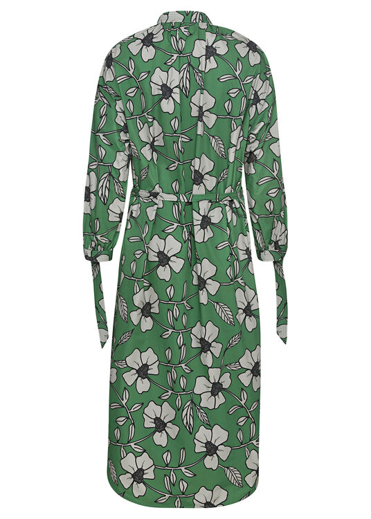 SHIRTDRESS WITH GATHERED NECKLINE image number 1