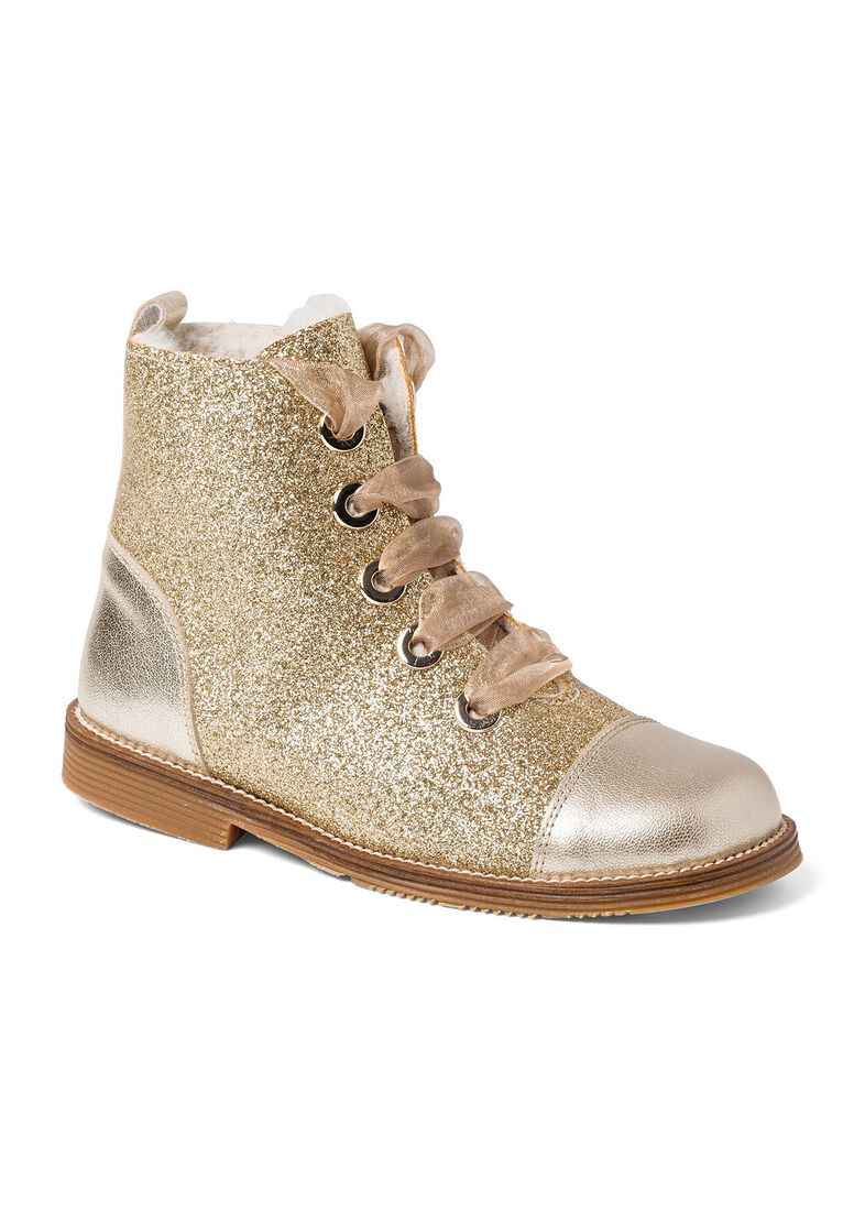 Wool Lines Glitter Boot, Gold, large image number 1