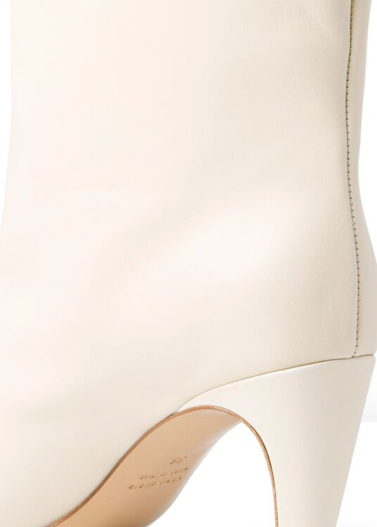 80MM Cream knee high boot in Leather image number 3