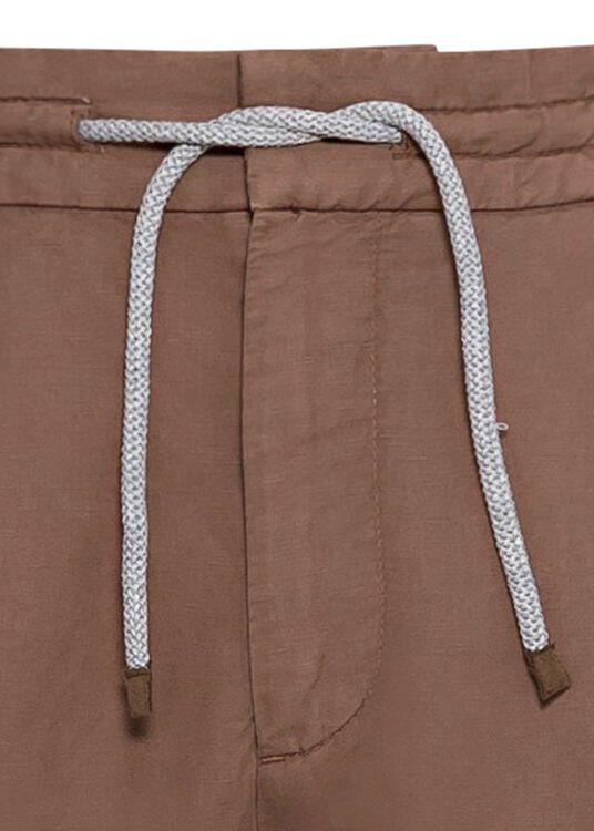 Cotton Linen Drawstring Pants image number 2