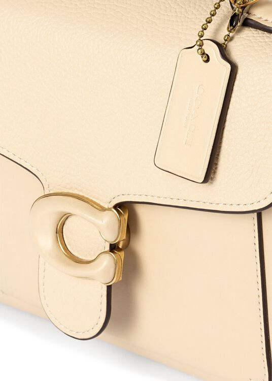 leather covered c closure tabby top handle 20 image number 2