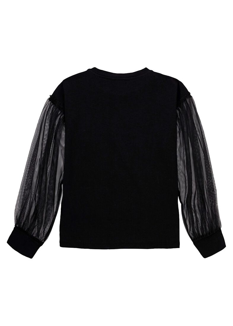 LS BLOUSE, Schwarz, large image number 1