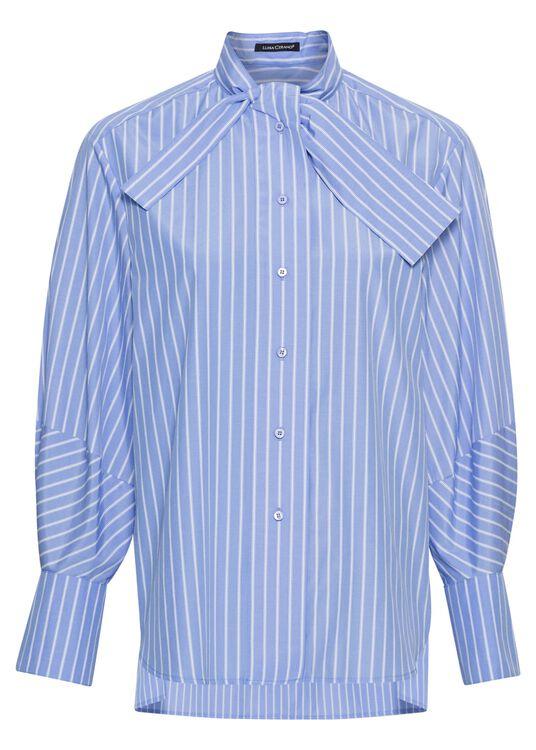 Schluppen-Bluse mit Streifen image number 0