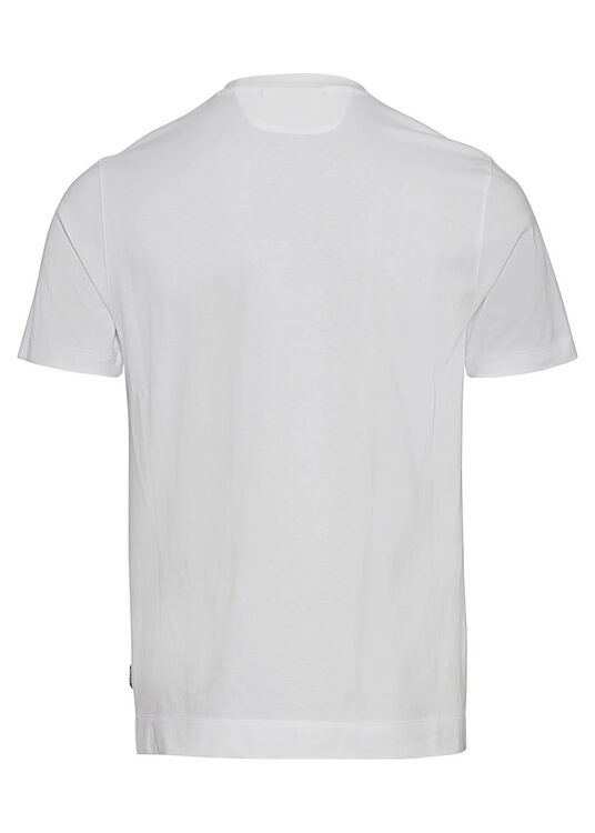 COTTON PLACED PRINT T-SHIRT image number 1