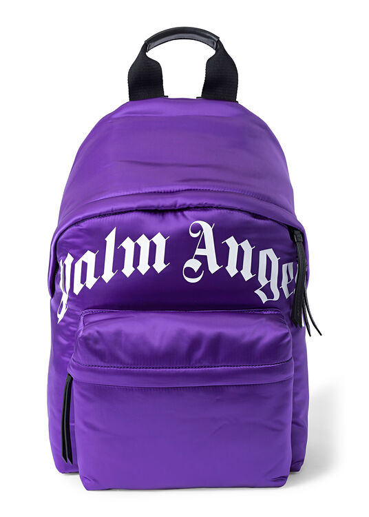 CURVED LOGO BACKPACK  PURPLE  WHITE image number 0