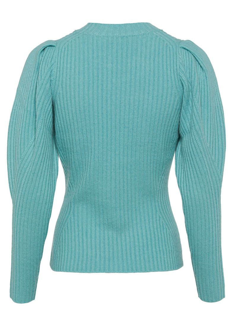 Ladybeetle Draped Sweater, Blau, large image number 1