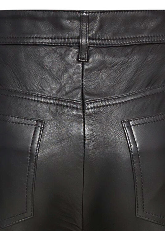 STRAIGHT LEG LEATHER TROUSER image number 3