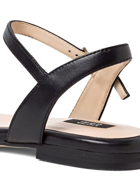 9_Flat Squared Chain Sandal image number 3