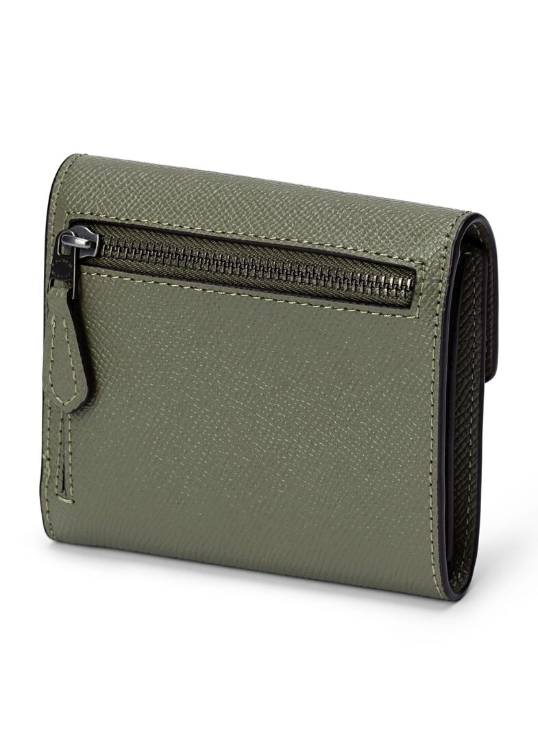 crossgrain leather small wallet, Grün, large image number 1