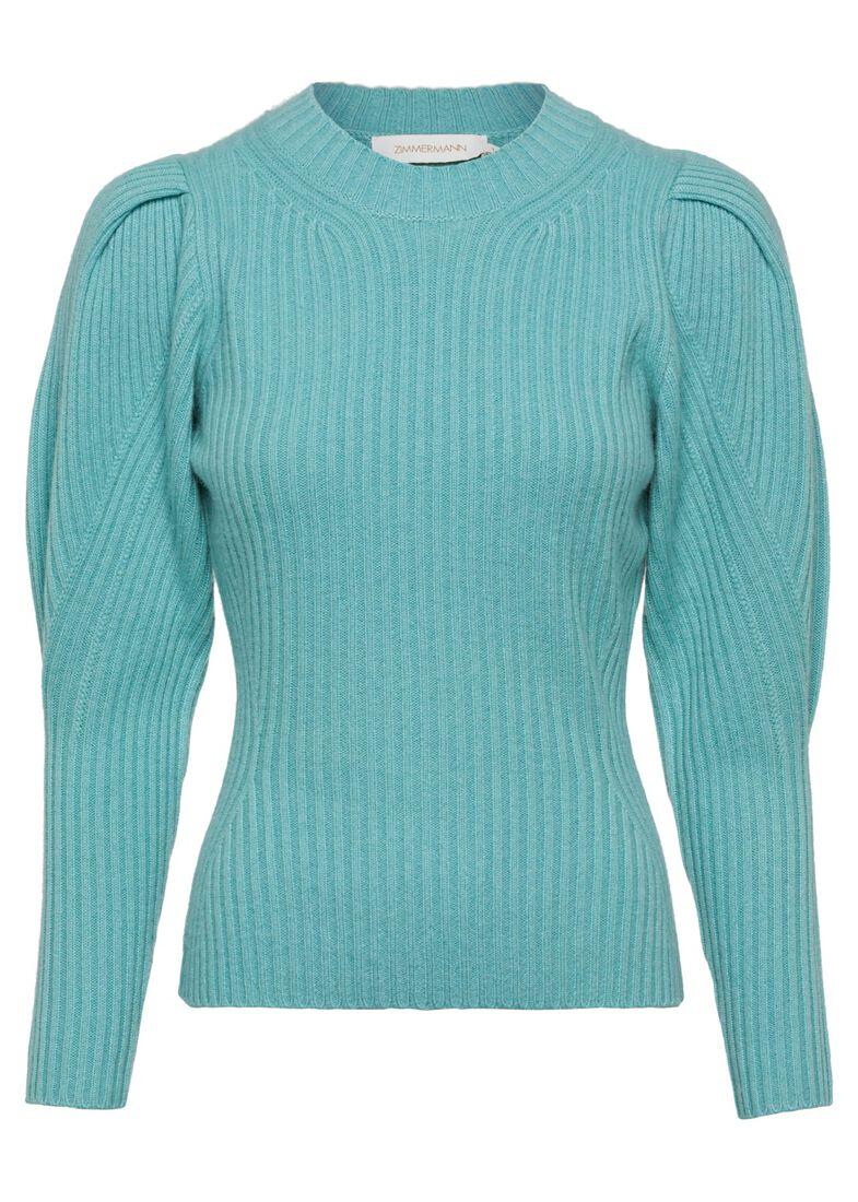 Ladybeetle Draped Sweater, Blau, large image number 0