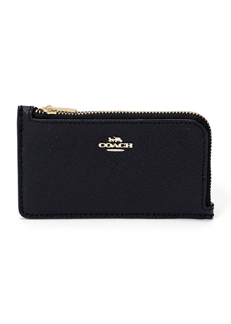 small l zip card case, Schwarz, large image number 0