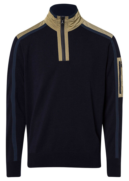 MEN'S ZIPPED PULLOVER C.W. WOOL image number 0
