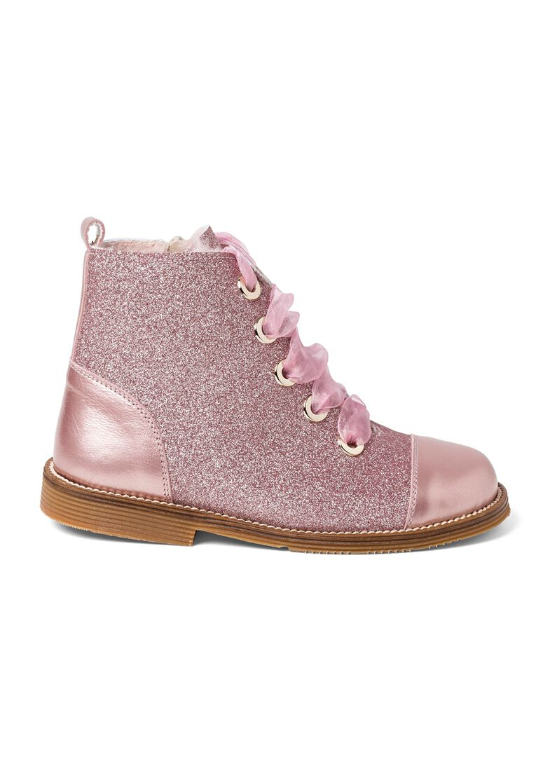 Wool Lines Glitter Boot, Rosa, large image number 0