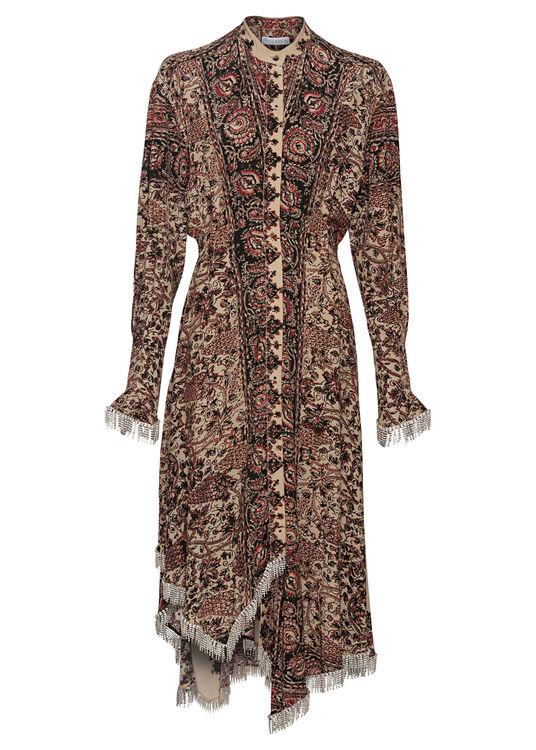 EMBELLISHED ASYMMETRIC SHIRT DRESS image number 0