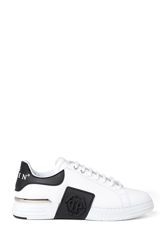 Rubber Leather PHANTOM KICK$ Lo-Top Sneakers Iconic Plein image number 0