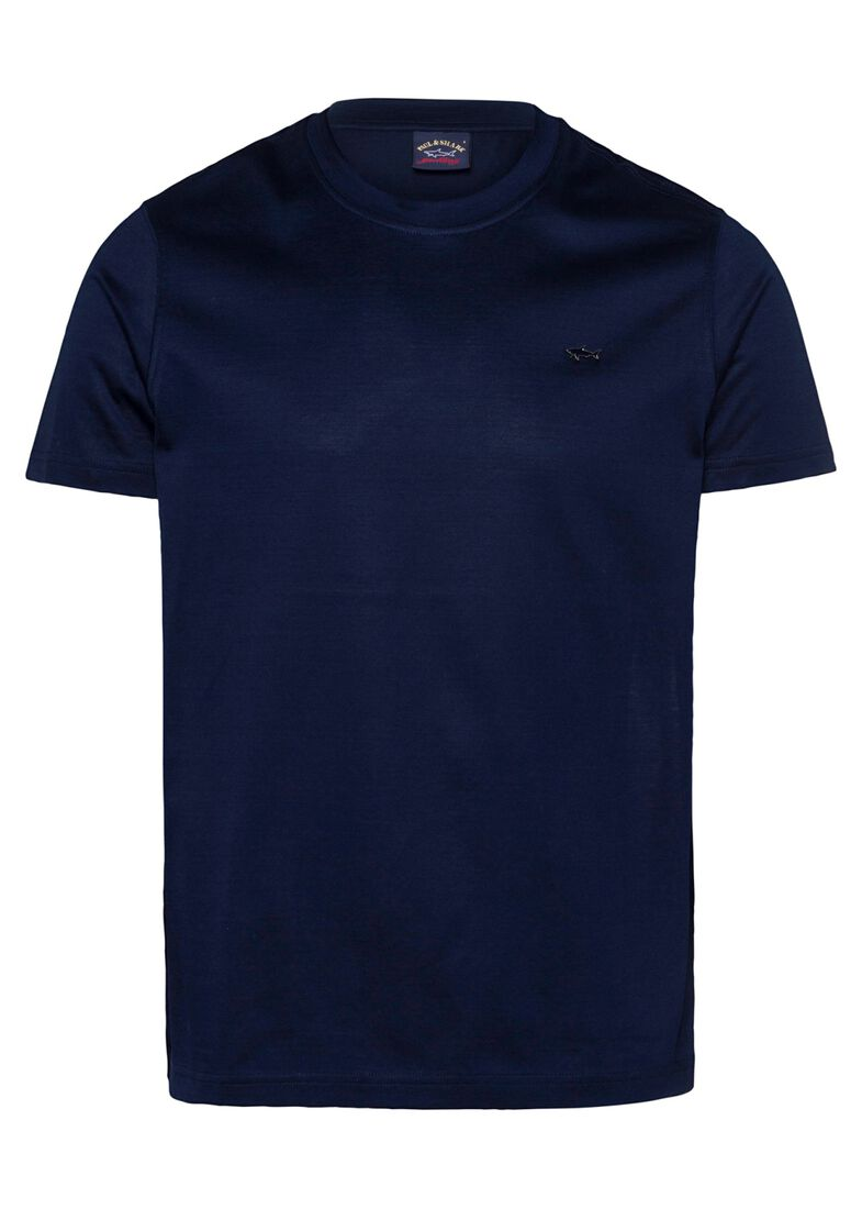 MEN'S KNITTED T-SHIRT C.W. COTTON, Blau, large image number 0