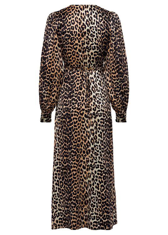 Wrap Dress Silk Stretch Satin image number 1