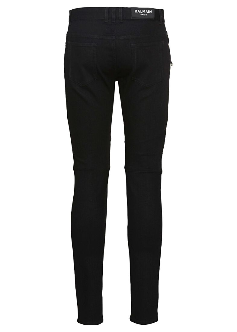 RIBBED SLIM JEANS-ONE WASH, Schwarz, large image number 1